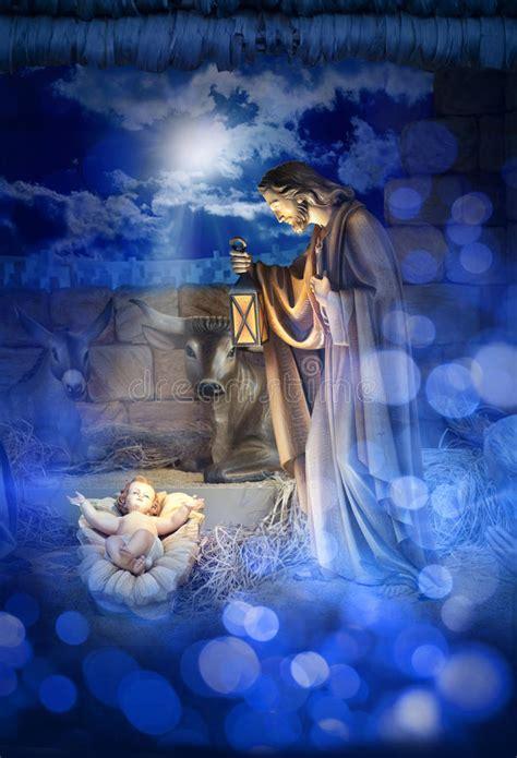 nativity christmas jesus birth stock photo image  celebration birthday