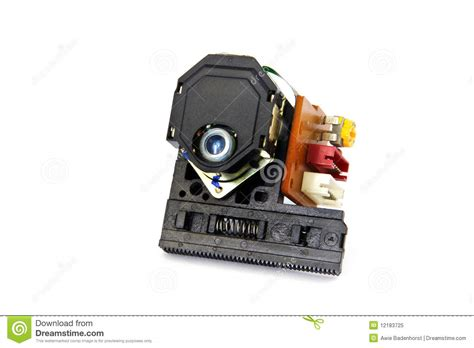 laser diode in dvd player laser and lens assemblage of a cd player royalty free stock photo image 12183725