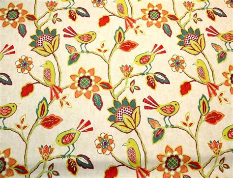 bright floral upholstery fabric bright floral bird fabric richloom cranbrook fiesta