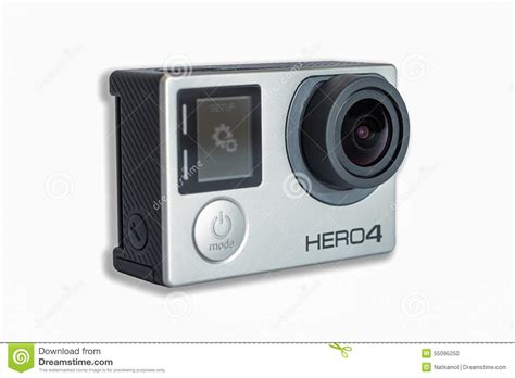 Gopro 4 White gopro 4 black edition isolated on white background