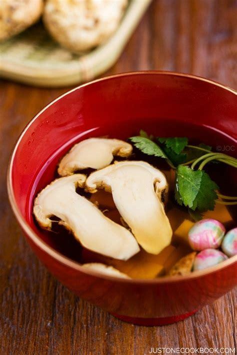 matsutake soup   cookbook