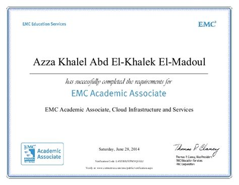 Cloud Support Associates Mba Student by Emc Academic Associate Cloud Infrastructure And Services