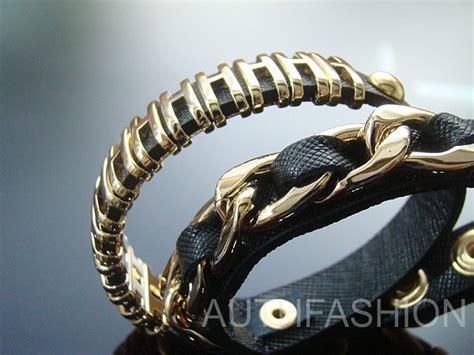 Bangle Korea Plated Gold Leather Kb27739 Zabu womens 14k gold plated h chain bracelet cuff bangle pu leather black w232 ebay