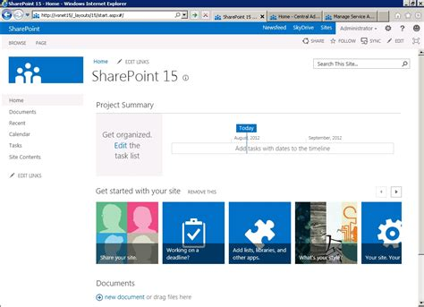 Sharepoint 15 First Look Sharepoint Home Page Templates