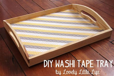 diy tray lovely little life easy diy washi tape serving tray