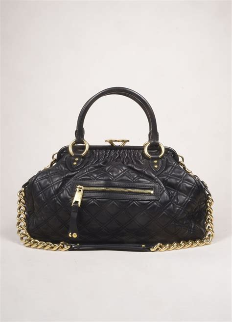 Marc Quilted Chain Bag by Marc Black Leather Quilted Chain Quot Stam Quot Bag