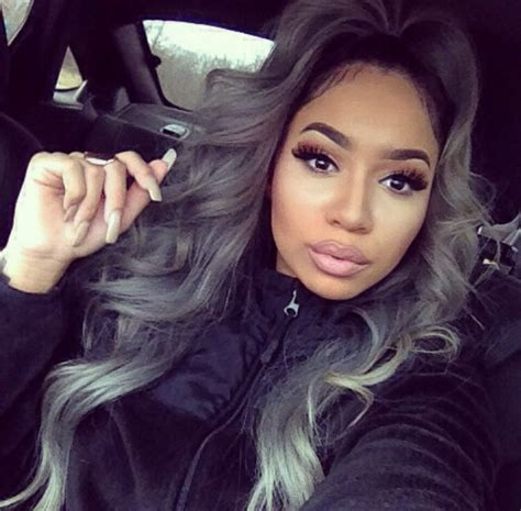 ladies new fashion trend alert grey hair weave is the new fad in 38 best hairstyles for black women images on pinterest