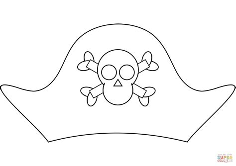 coloring pages of pirate hats pirate hat coloring page free printable coloring pages