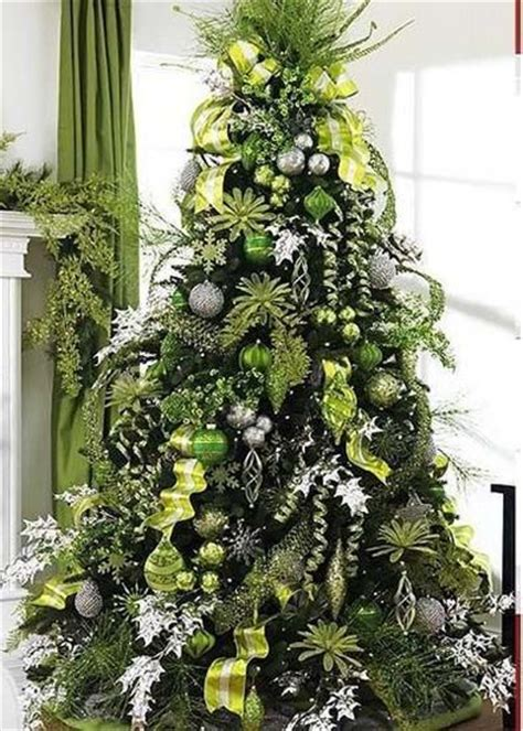 lime green silver christmas decor pinterest