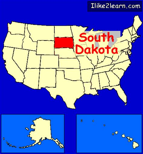south dakota us map south dakota