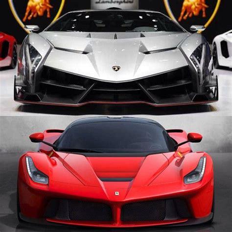Laferrari Vs Lamborghini Veneno Lamborghini Veneno Vs Laferrari Supercars
