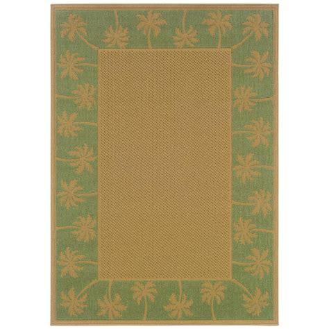 beige green oriental weavers nevis passage green beige 7 ft 3 in x