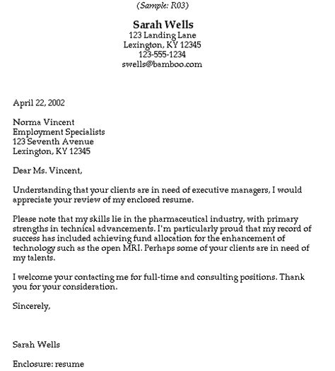 sle cover letter sle cover letter to headhunter