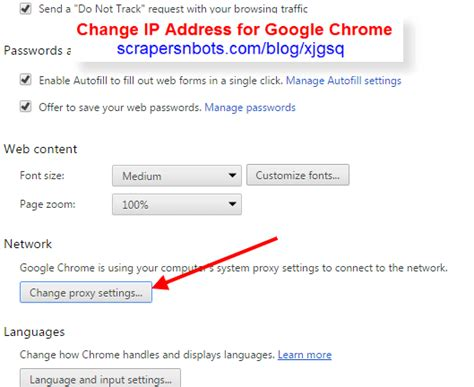 chrome proxy settings easy way to change ip address in chrome browser scrapers