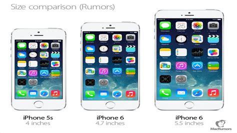 iphone 5s vs iphone 6 4 7 quot vs iphone 6 5 5 quot size comparison rumor