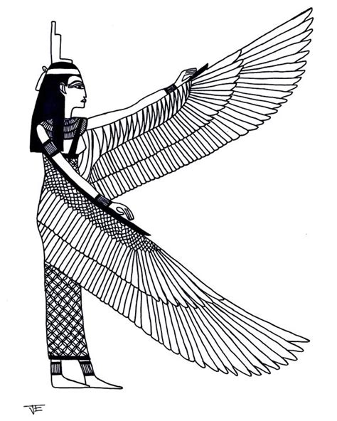egyptian wings juliette s drawings amp illustration