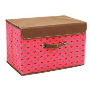 Printed Storage Box lid cover foldable clothes storage box tote printed