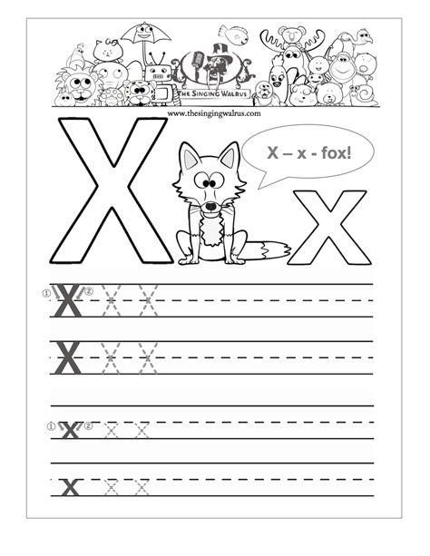 alphabet worksheets letter x pics for gt letter x tracing worksheets