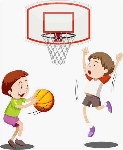 dibujos niños jugando baloncesto jugando baloncesto ni 241 os vector de material hobby el