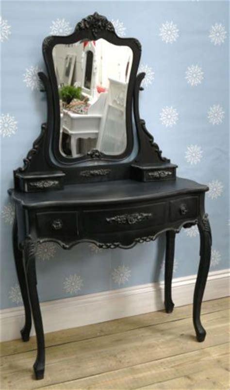 black bedroom vanity table french boudoir black vintage dressing table vanity mirror