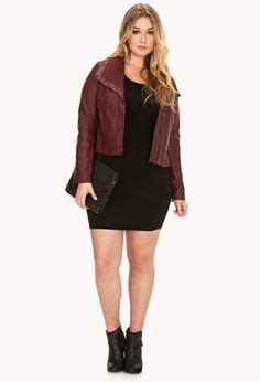 Found A City Chic Leather Coat by The Of Being Curvy On Plus Size
