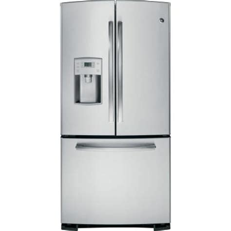 ge stainless steel door refrigerator ge profile 22 1 cu ft bottom freezer door