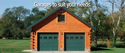 log siding garage kits choose from a variety of log home and cabin garages