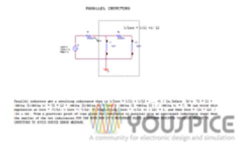 pspice inductor code inductance meaning with pspice youspice