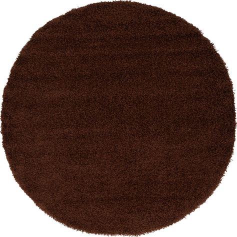 Chocolate Brown Shag Rug by Unique Loom Solid Shag Chocolate Brown 6 Ft X 6 Ft