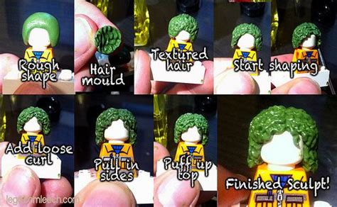 lego hair tutorial custom curly hair sculpting process custom lego minifigures