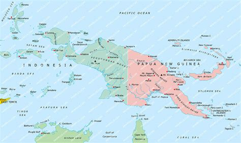 new guinea map new guinea map powerpoint mountain high maps plus