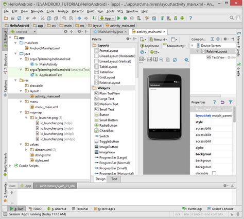 android layout tutorial for beginners android tutorial for beginners hello android
