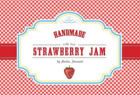 strawberry jam labels infarrantly creative