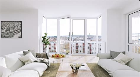 white apartment scandinavian apartment white living floor to ceiling