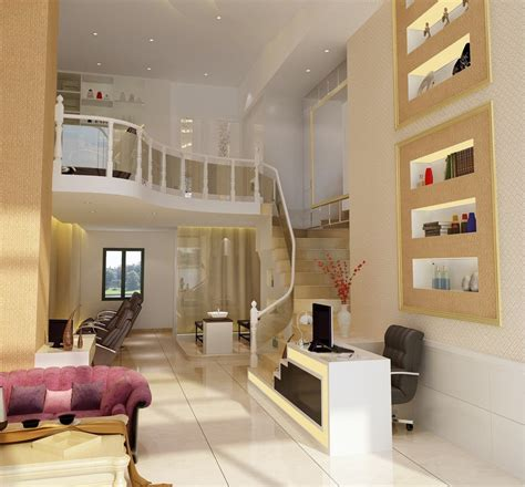 Interior Design Staircase Living Room by Living Dining Room Design With Stair 3d House Free 3d