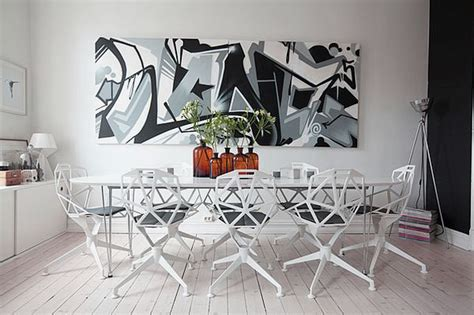 graffiti art home decor bright dining room decor with graffiti wall art