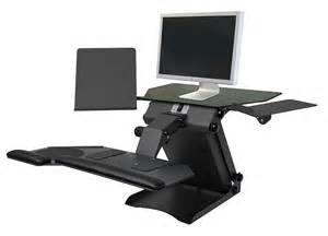 Cheap Desks Sit Stand Desk Top Workstation With Single Monitor Mount