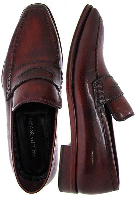Sepatu Sneakers Leather Suite 25021 paul parkman 174 s loafer antique burnished bordeaux leather reddish leather