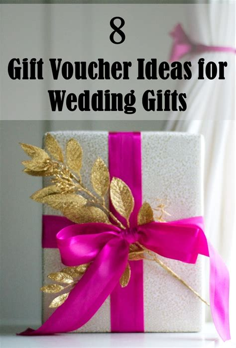 8 gift voucher ideas for wedding gifts frugal2fab - Wedding Present Voucher Ideas