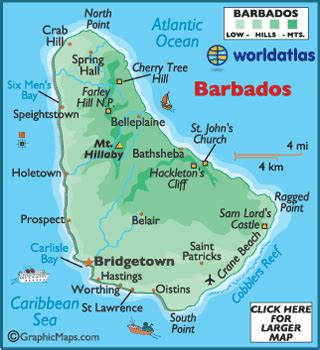 Barbados On World Map by Bridgetown Barbados Photos Worldatlas Com