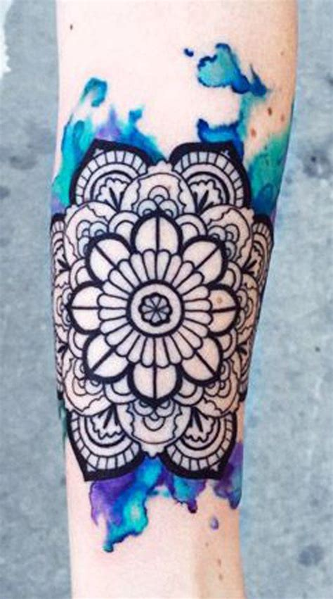 watercolor tattoos mandala best 25 colorful mandala ideas on