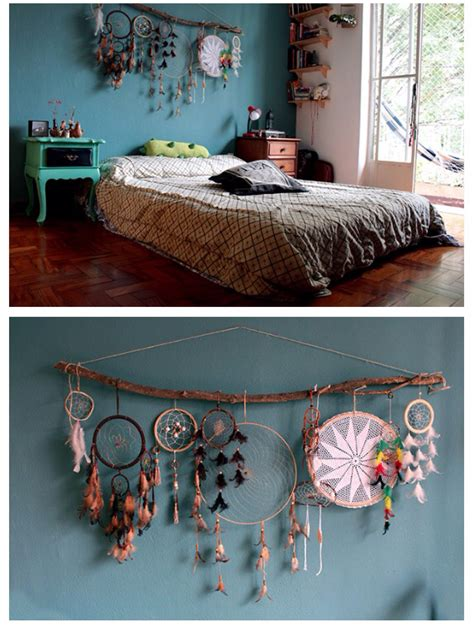 diy bohemian home decor dream catcher decor over bed or headboard bohemian hype