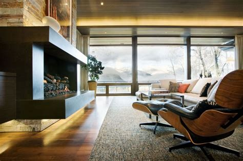 eames lounge chair contemporary living room other metro by hua yu furniture ltd wrights road warm and contemporary residence amidst snow