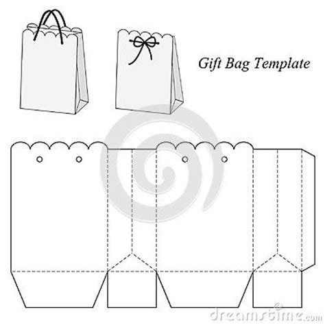 interesting gift bag template template box bag