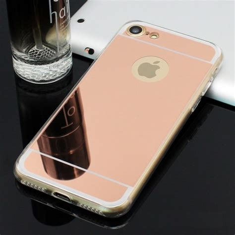 Casing Rosegold Rubber Mirror Iphone X gold gold silver space grey iphone 7 8 mirror cases retailite