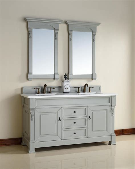 Traditional Bathroom Vanities by Abstron 60 Inch Grey Finish Traditional