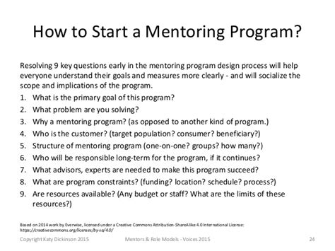 Mentors And Role Models Best Practices In Many Cultures Voices 20 Mentorship Program Template