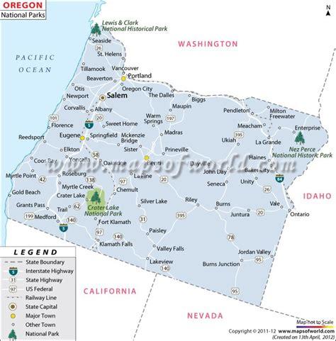 map of oregon parks oregon national parks map western us trip