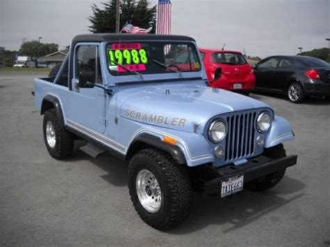 jeep scrambler for sale on craigslist 1984 jeep scrambler cj8 v6 manual for sale marina ca