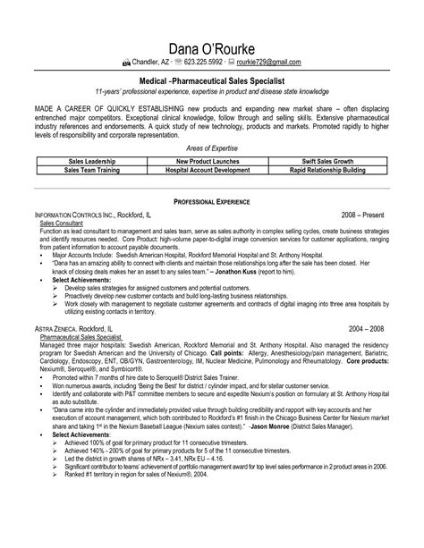 outside sales representative resume examples free to try today